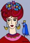 Fryda Frida med fugl