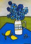Vase og sitroner